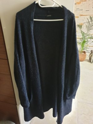 Long Knitted Vest dark blue