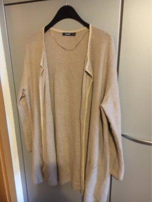 Donnell Gilet long tricoté beige