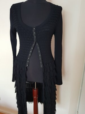 D. Exterior Knitted Cardigan black