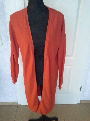Esmara Gilet long tricoté orange fluo