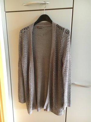 Street One Gilet long tricoté gris