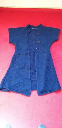 MRL Gilet long tricoté bleu