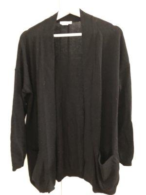 H&M Lang gebreid vest zwart