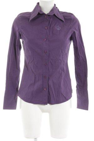 Look 54 Hemd-Bluse lila klassischer Stil