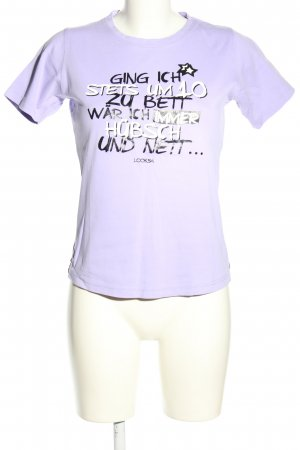 Look 54 Print-Shirt Schriftzug gedruckt Casual-Look