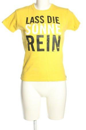 Look 54 T-Shirt Schriftzug gedruckt Casual-Look
