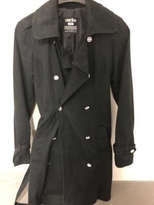 Look 54 Trenchcoat zwart