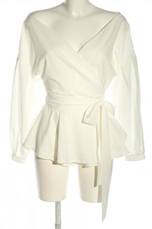 Lookabe Wickel-Bluse creme extravaganter Stil