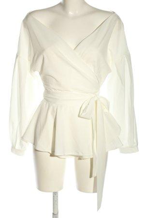 Lookabe Kopertowa bluzka kremowy Ekstrawagancki styl