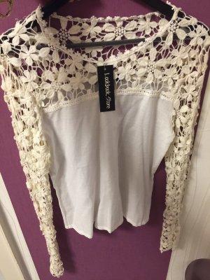 Lookbookstore Gehaakt shirt wit