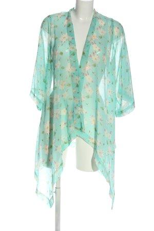 Lookbookstore Giacca a blusa turchese stampa integrale stile casual