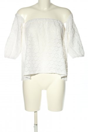Lookbookstore Blusa alla Carmen bianco stile casual