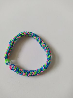 Loomarmband bunt (blau-pink-grün)