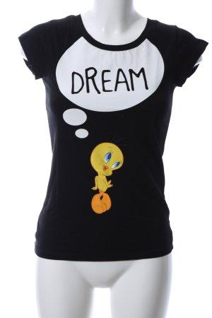 Looney Tunes T-shirt lettrage imprimé style décontracté