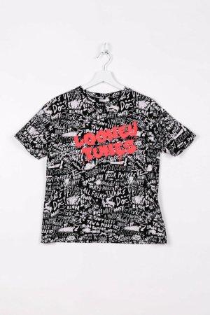 Looney Tunes T-shirt imprimé noir coton
