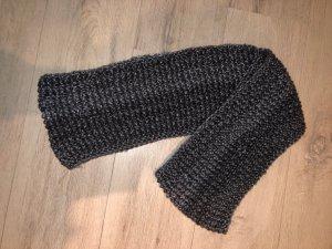 Handmade Bufanda de punto gris-gris oscuro