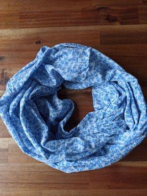 Bufanda tubo blanco-azul aciano