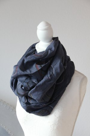 D made in Italy Tube Scarf dark blue
