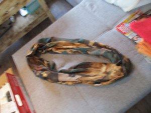 Bufanda tubo marrón-verde