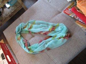 Bufanda tubo turquesa