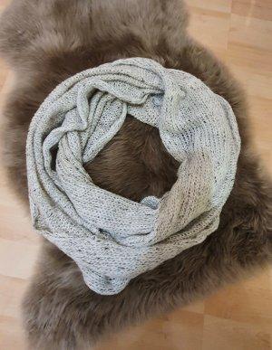 H&M Sciarpa di lana bianco-oro