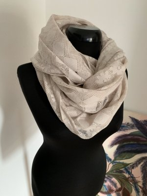 Friis & Company Tube Scarf cream-natural white cotton