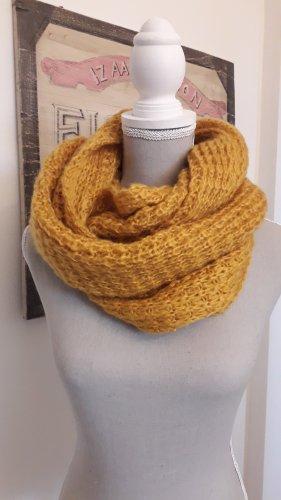 italienische Mode Écharpe en tricot orange doré