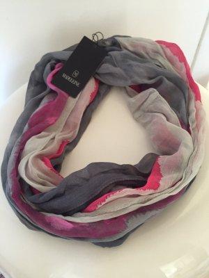Loop-Schal grau-pink  - neu mit Etikett