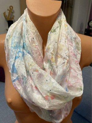 Loop Schal mit Pastellfarben und Glitzer