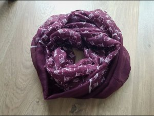 keine Ahnung Bufanda tubo lila-violeta amarronado