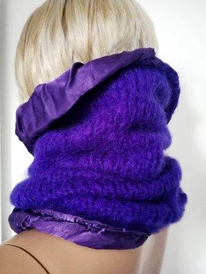 Gebreide sjaal lila-donkerpaars