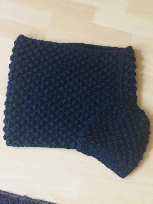 H&M Bufanda de lana azul oscuro Acrílico