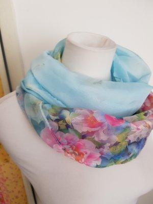 Écharpe d'été rose-bleu azur