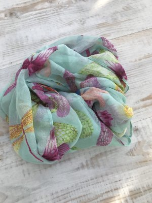 aus Italien Snood turquoise-lilac