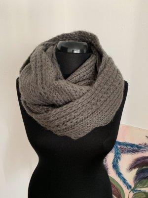 Bufanda tubo gris-gris oscuro mohair