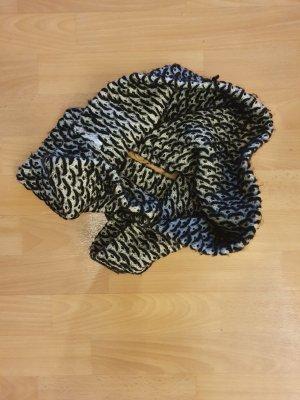 Écharpe tube noir-blanc