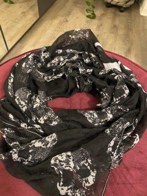 Bufanda tubo negro-blanco