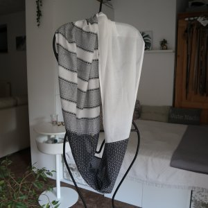 Opus Apaszka biały-czarny Bawełna