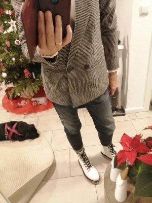 Tom Tailor Blazer Boyfriend negro-gris claro