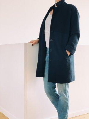 Custommade Short Coat dark blue-blue