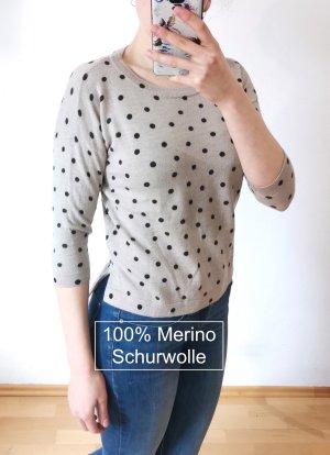 Looxent 100% Merlno Schurrwolle Gr. 38 Kaffeefarben gepunktet