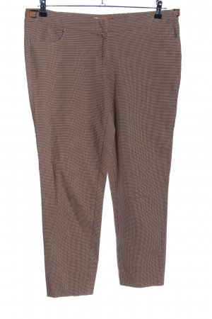 Looxent Chinohose braun Karomuster Business-Look