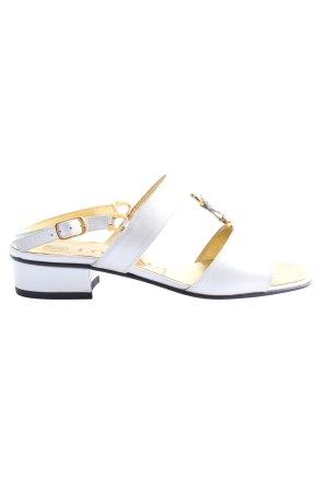 Lorbac High Heel Sandaletten weiß Casual-Look