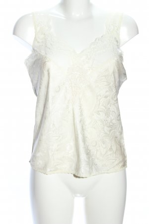 lord & taylor Lace Top cream flower pattern elegant