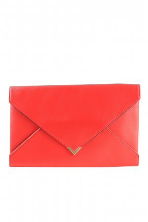Loreal Clutch rot Schriftzug gedruckt Elegant