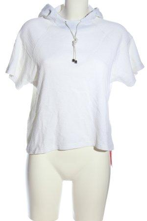 Lorena Antoniazzi Top à capuche blanc imprimé allover style décontracté