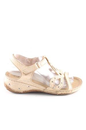 Riemchen-Sandaletten wollweiß Casual-Look