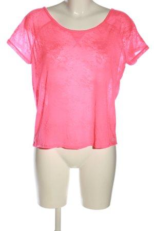 Lorna Jane Top cut-out rosa stile casual