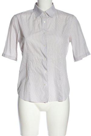 Loro Piana Camicia a maniche corte bianco-marrone stampa integrale