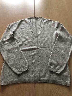 Loro Piana Pullover in cashmere grigio chiaro